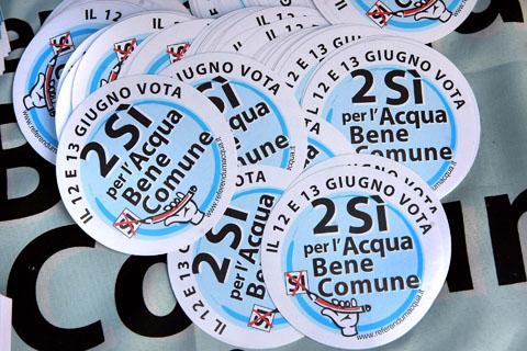 Presidio dei Comitati per il si al referendum