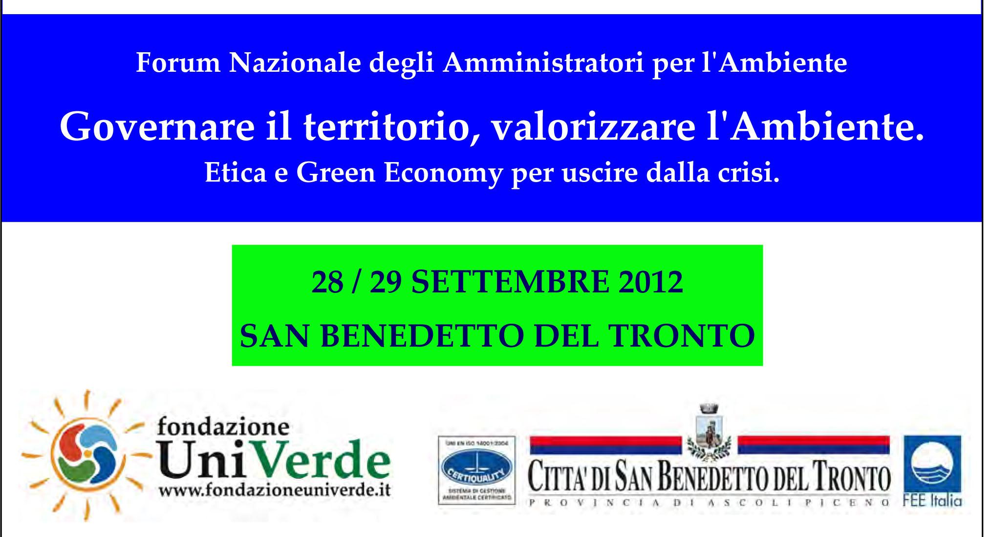 Programma  del Forum Nazionale degli Amministrati per l'Ambiente-1