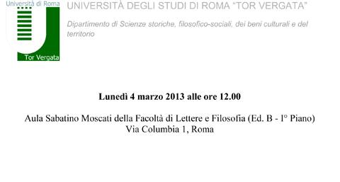 locandina Introduzione Corso Turismo e Sostenibilità 4 marzo