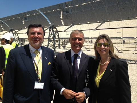 Foto impianto solare a specchi a Massa Martana (PG)