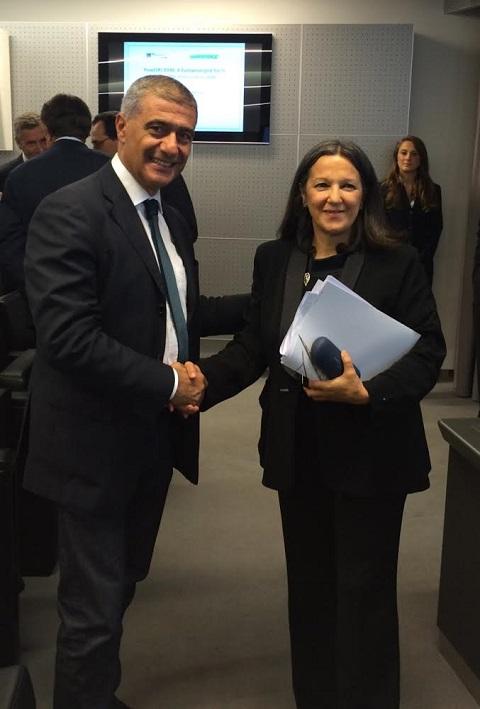 Alfonso Pecoraro con Catia Bastioli (Terna)