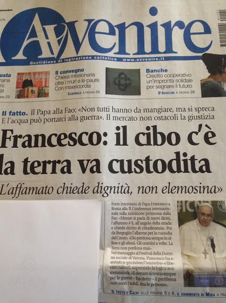 Avvenire Papa Fao Alfonso Pecoraro Scanio