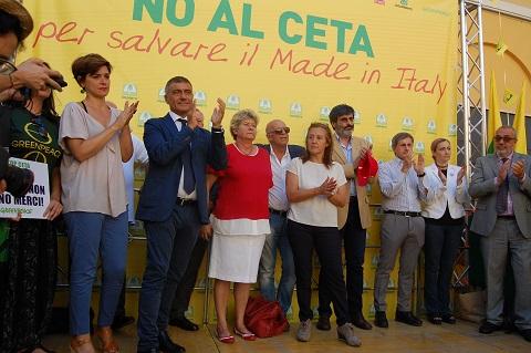 Manifestazione CETA Alfonso Pecoraro Scanio