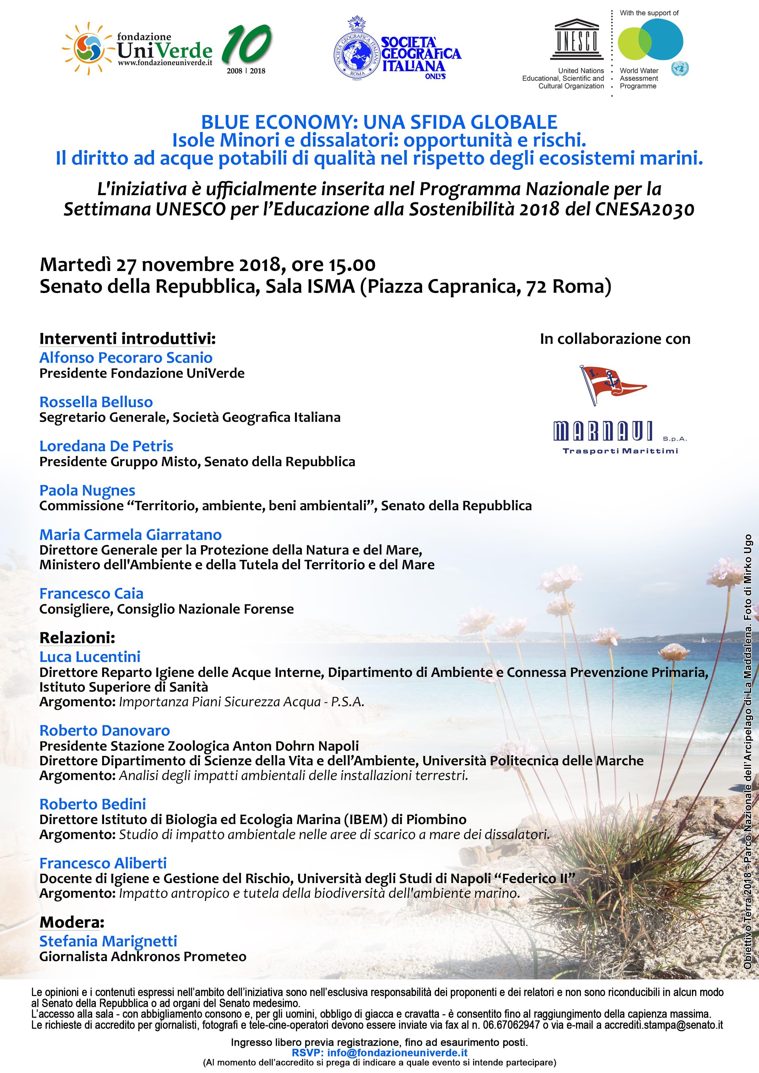 Roma, 27 novembre 2018 - SENATO, Sala ISMA